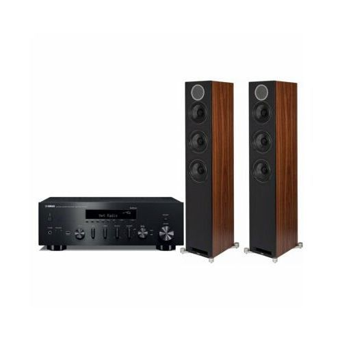 Yamaha Zestaw stereo r-n602 + elac debut reference dfr-52 orzech (2900989888317)