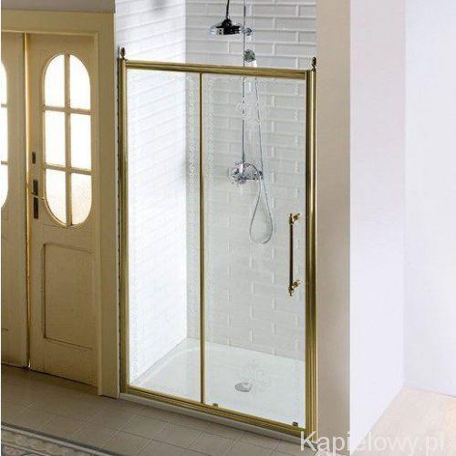 Gelco Antique drzwi prysznicowe do wnęki przesuwne 140x190 cm szkło czyste, kolor brąz gq4214c