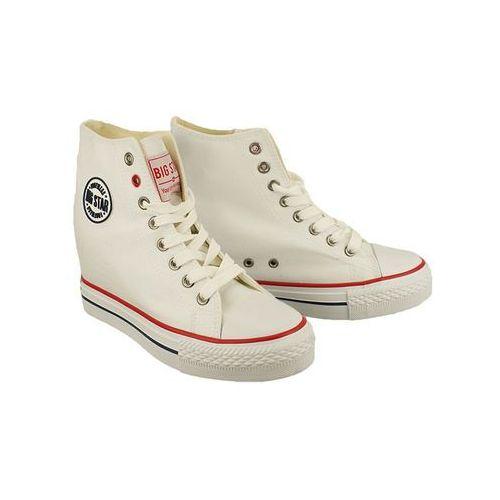 BIG STAR U274904 biały, trampki sneakersy damskie - Biały