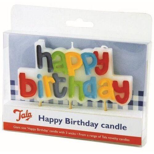 Świeczka na tort Happy Birthday
