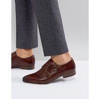 Walk London City Monk Strap Shoes In Brown - Brown