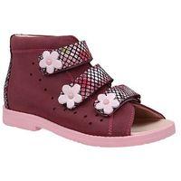 Sandałki profilaktyczne ortopedyczne buty 1042 śliwka slk1 - śliwkowy ||różowy marki Dawid