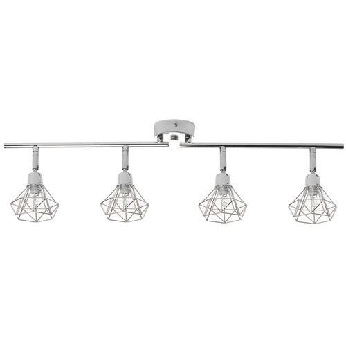 Lampa sufitowa srebrna erma marki Beliani