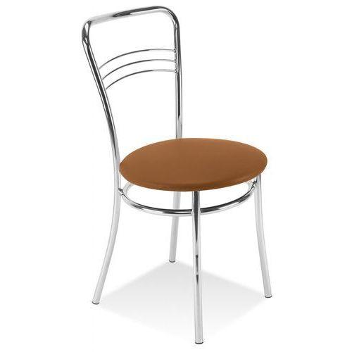 Krzesło kuchenne ARGENTO CHROME jasny brąz NOWY STYL (5903038394682)