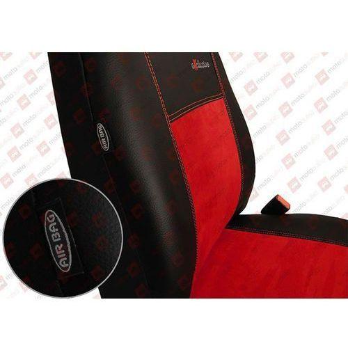 Pok-ter  skóra alkantara czerwone pokrowce samochodowe bmw seria 3 e46 1998-2007 - czerwony