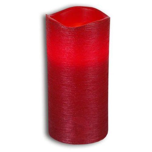 Best season Czerwona świeczka led linda z wosku z fakt. 15 cm