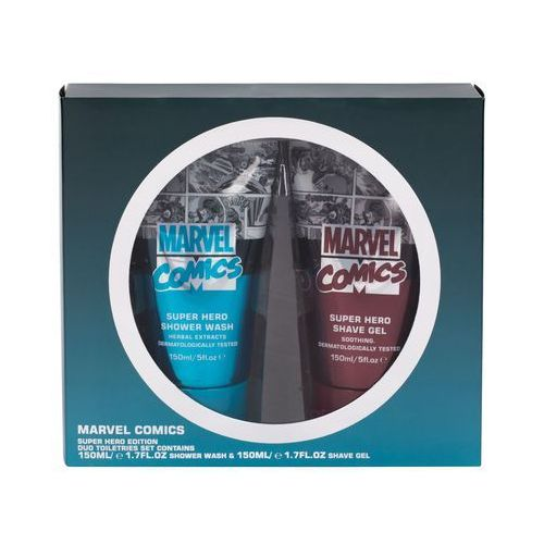 comics hero zestaw żel pod prysznic 150 ml + żel do golenia 150 ml dla mężczyzn marki Marvel