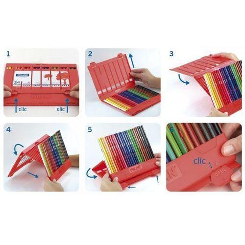 Kredki trójkątne Flexi box 24 kolory