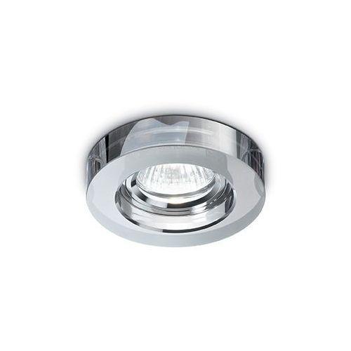 Ideal lux Oczko lampa sufitowa wpuszczana downlight blues round 3x50w gu10 dymione komplet 3 sztuk 113982