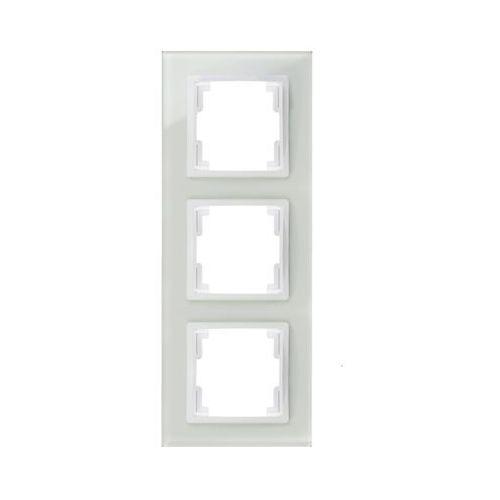 volante ramka 3x szklana biały 2673-62 marki Elektroplast