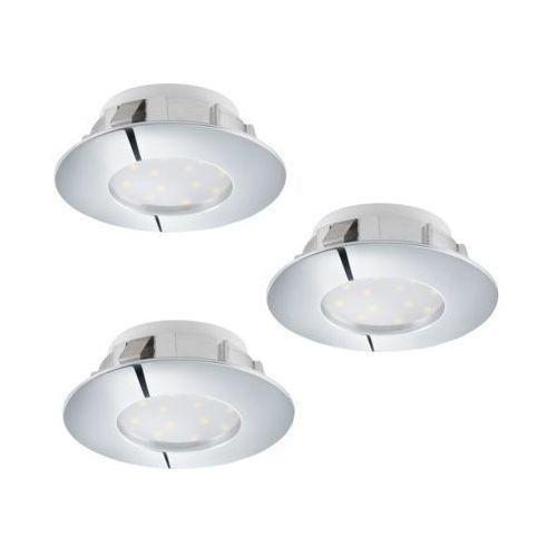 Eglo 95808 - Zestaw 3x LED Oprawa wpuszczana PINEDA 3xLED/6W/230V, 95808