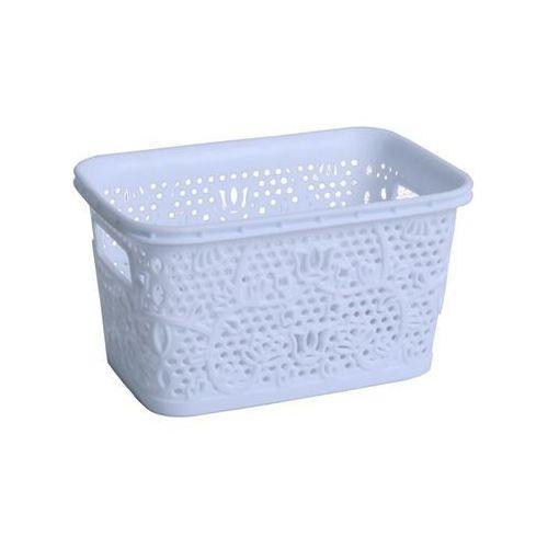 Koszyczek biały wymiary 18,5 x 12 cm pojemność 1 l