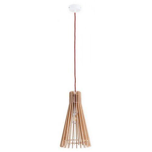 Lemir arana o2601 nat + cze lampa wisząca zwis 1x60w e27 brązowy / czerwony