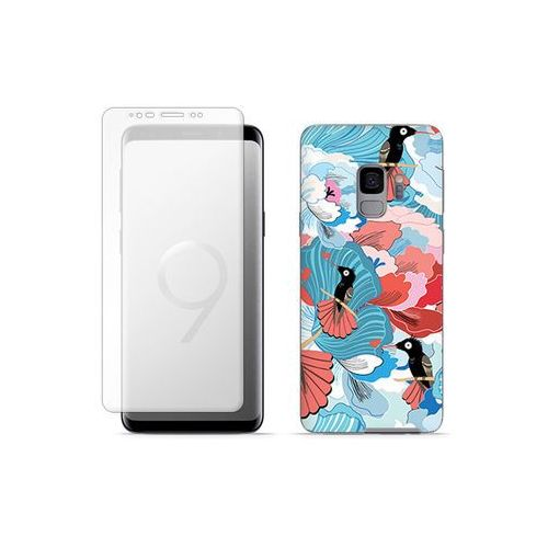 Samsung galaxy s9 - etui na telefon full body slim fantastic - ptaki na kwiatach marki Etuo full body slim fantastic