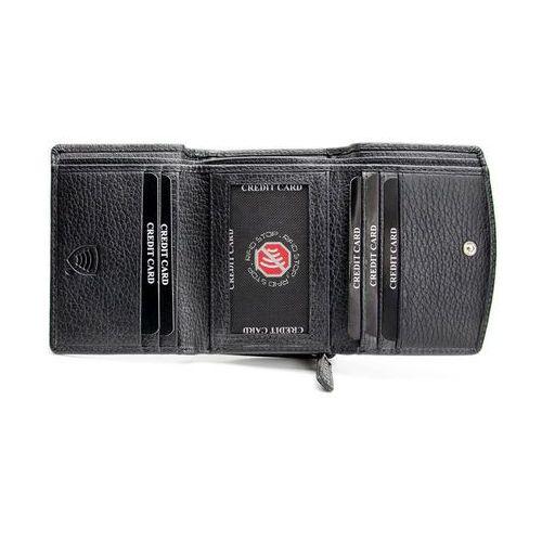 Damski portfel na karty zbliżeniowe (Czarny) - Czarny mat - produkt z kategorii- Etui i pokrowce