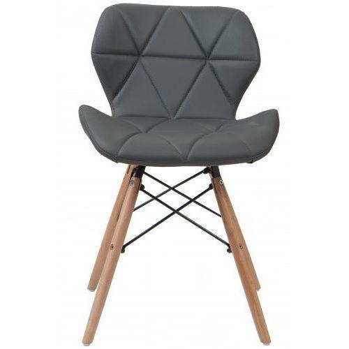 Nowoczesne krzesło skandynawskie art118 popiel welur marki Meblemwm