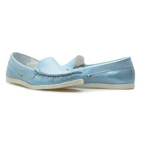 Mokasyny Giorgio Fabianni 655 Jasny niebieski lico, kolor niebieski