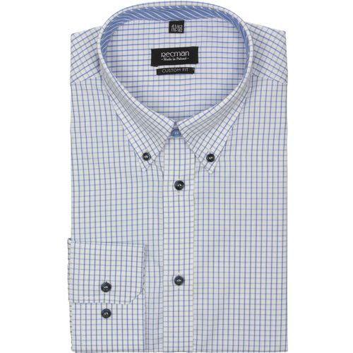 koszula croft 2189 długi rękaw custom fit niebieski, bawełna