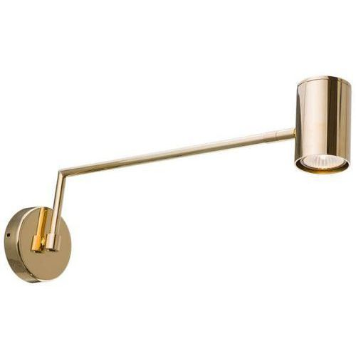 Kinkiet LAMPA ścienna LAGARES 0437 Amplex loftowa OPRAWA regulowana tuba na wysięgniku złota, 0437