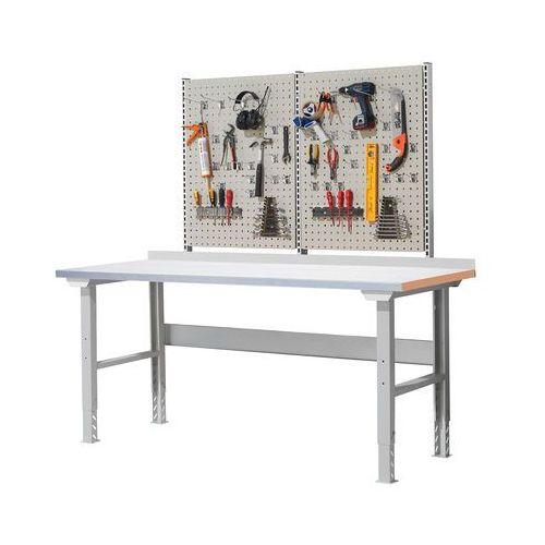 Stół warsztatowy SOLID, z wyposażeniem, 300 kg, 2000x800 mm, stal