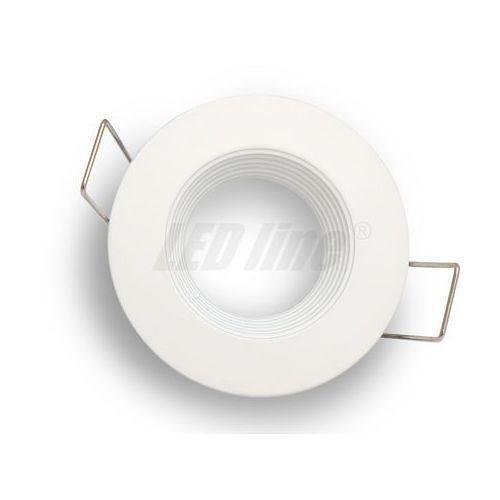 Oprawa halogenowa sufitowa okrągła stała, odlew stopu alumunium, MR11 - biała matowa