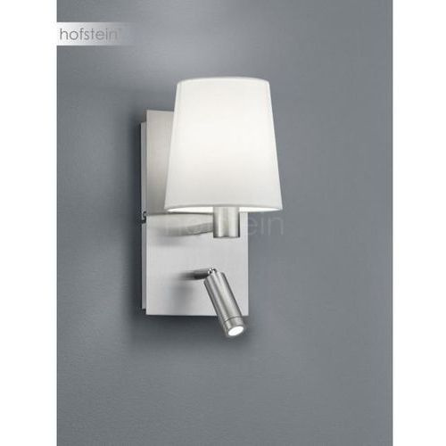 Trio marriot 271470207 kinkiet lampa ścienna 1x40w e14 + 3,1w led nikiel mat / biały