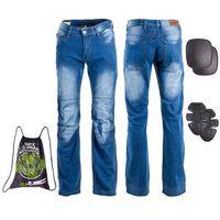 W-tec Męskie jeansowe spodnie motocyklowe shiquet, niebieski, xl (8596084048288)