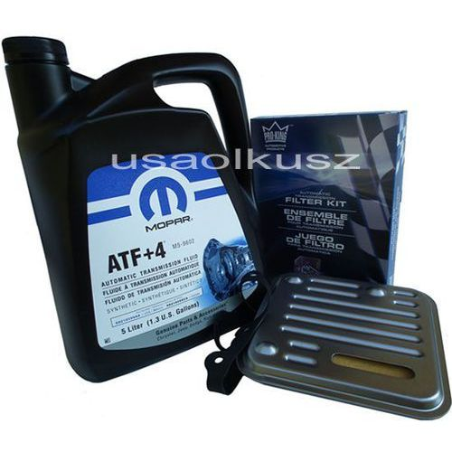 Olej atf+4 oraz filtr automatycznej skrzyni 4spd chrysler 200 2,4 16v marki Mopar