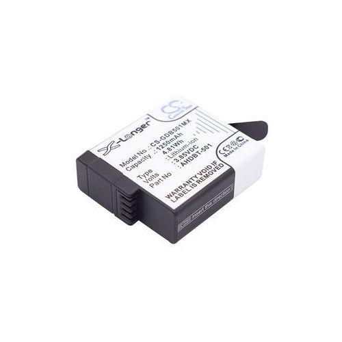 GoPro Hero 5 / AHDBT-501 1250mAh 4.81Wh Li-Ion 3.85V (Cameron Sino), CS-GDB501MX
