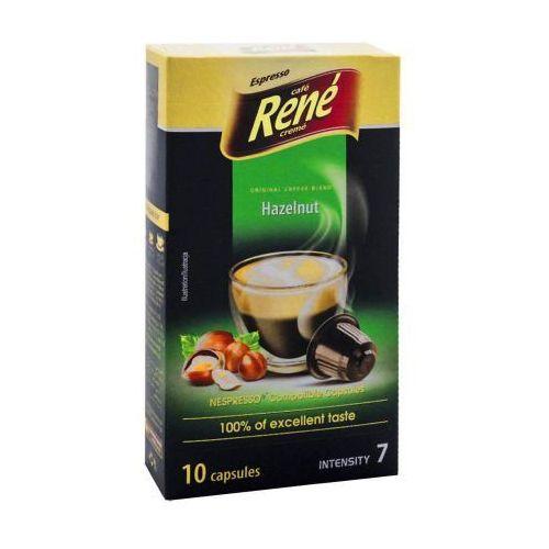 Nespresso kapsułki Rene hazelnut (kawa aromatyzowana orzechowa) kapsułki do nespresso – 10 kapsułek (5902480015022)