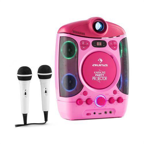 karaprojectura zestaw karaoke z projektorem gra świateł led usb pink marki Auna