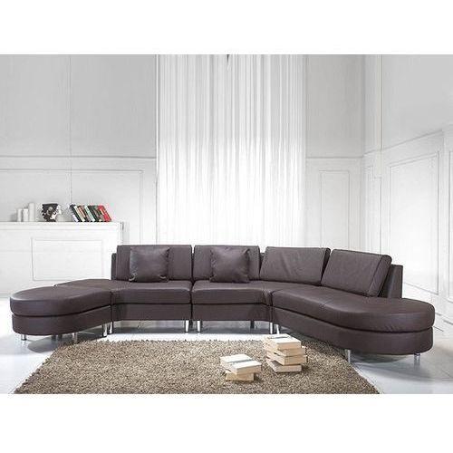 Luksusowa sofa kanapa brązowa skórzana COPENHAGEN (7081457590620)