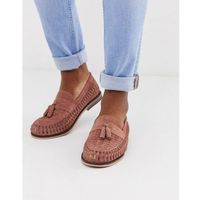 woven loafers in pink - pink marki River island