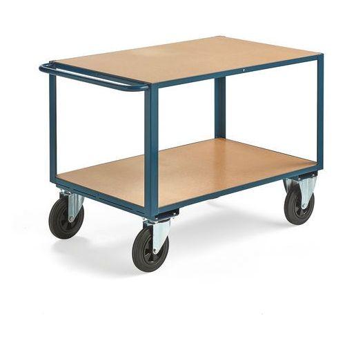 Wózek warsztatowy, bez hamulców, 2 koła skrętne, 600 kg, 1100x700 mm