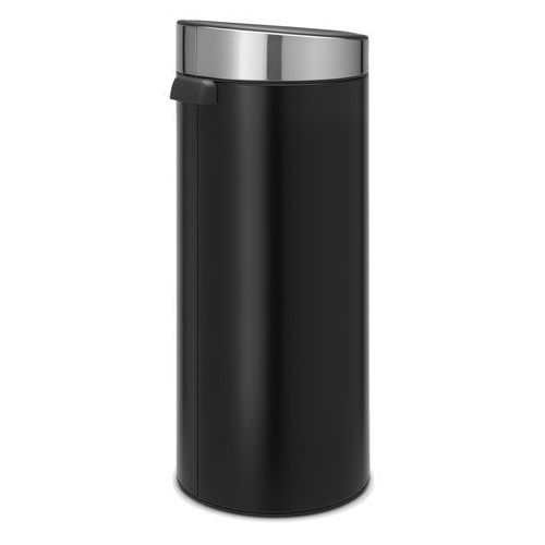 Brabantia - Kosz Touch Bin - 30 l - plastikowe wiaderko - czarny matowy/FPP - czarny ||srebrny (8710755115448)
