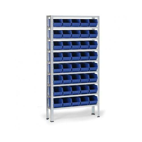 Regał z plastikowymi pojemnikami, 40 szt pojemników typu b marki B2b partner