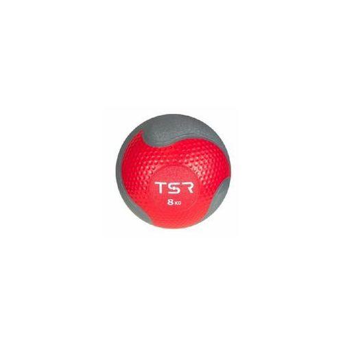piłka lekarska kauczukowa - wiśniowy \ 8 kg marki Tsr