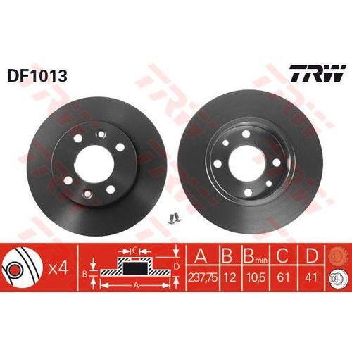 TARCZA HAM TRW DF1013 RENAULT CLIO II 1.5DCI 05-, 1.9D 00-01, MEGANE I 1.6I 96-99, 1.9D ECO 96-, THALIA 1.2 16V 02-, TRW DF1013