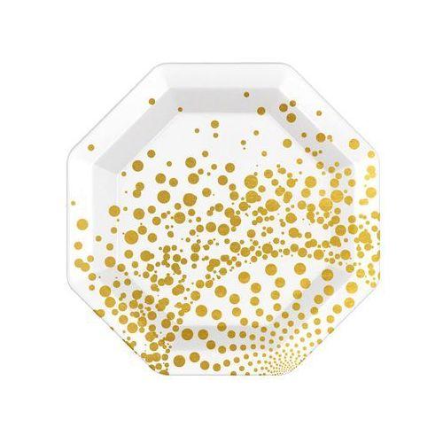 """Talerzyki papierowe """"Luxury"""", złote, FOLAT, 23 cm, 6 szt"""