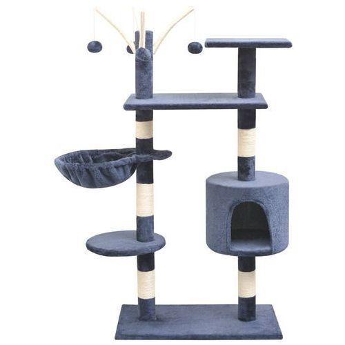 vidaXL Drapak dla kota z sizalowymi słupkami, 125 cm, granatowy (8718475522850)