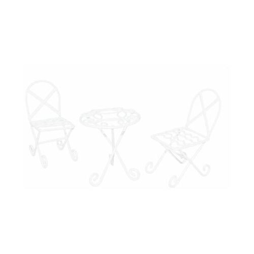 Meble ogrodowe mini 6,5 x 6 x 6 cm białe do lasu w słoiku (5903039407657)
