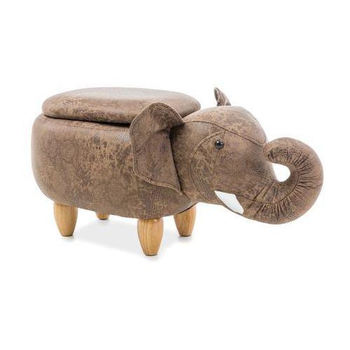 Pufa zwierzak - - słoń sebastian z pojemnikiem - brązowy marki Signal