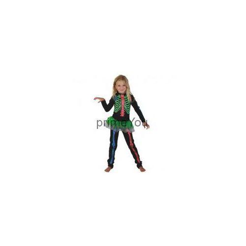 Godan Strój szkieletorka kolorowa rozmiar 110-120 cm, kategoria: kostiumy dla dzieci