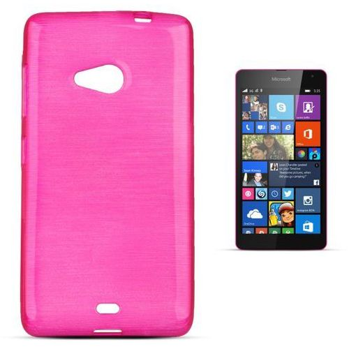 """Forcell """"jelly brush lumia 535"""" (pink) (5901737287625)"""