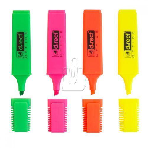 D.rect Zakreślacz 1127 4 kolory komplet