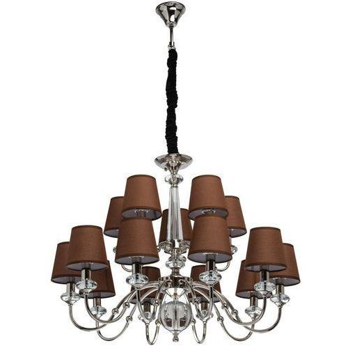 Mw-light Elegancki żyrandol na 15 żarówek - brązowe klosze elegance (355013715)