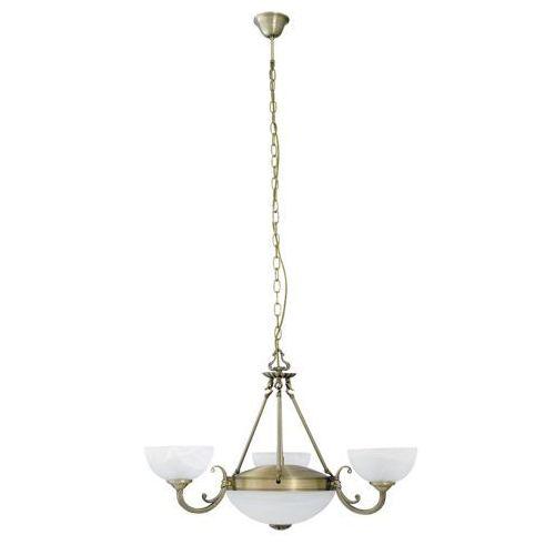 Rabalux Lampa wisząca zwis marlene 3x40w e14 + 2x60w e27 brąz/biały 8543