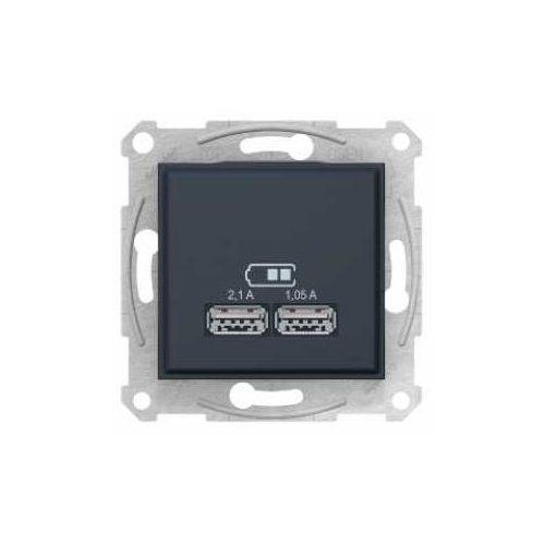 Ładowarka USB Sedna Schneider SDN2710270 grafit (3606480989858)