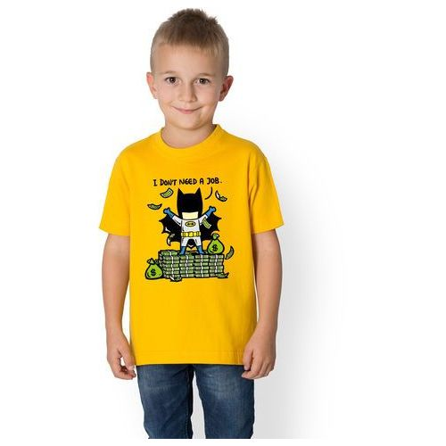 Koszulka dziecięca Superbohater nie potrzebuje pracy, 5875