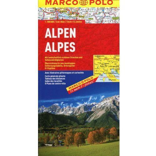 Alpy mapa samochodowa 1:800 000, praca zbiorowa